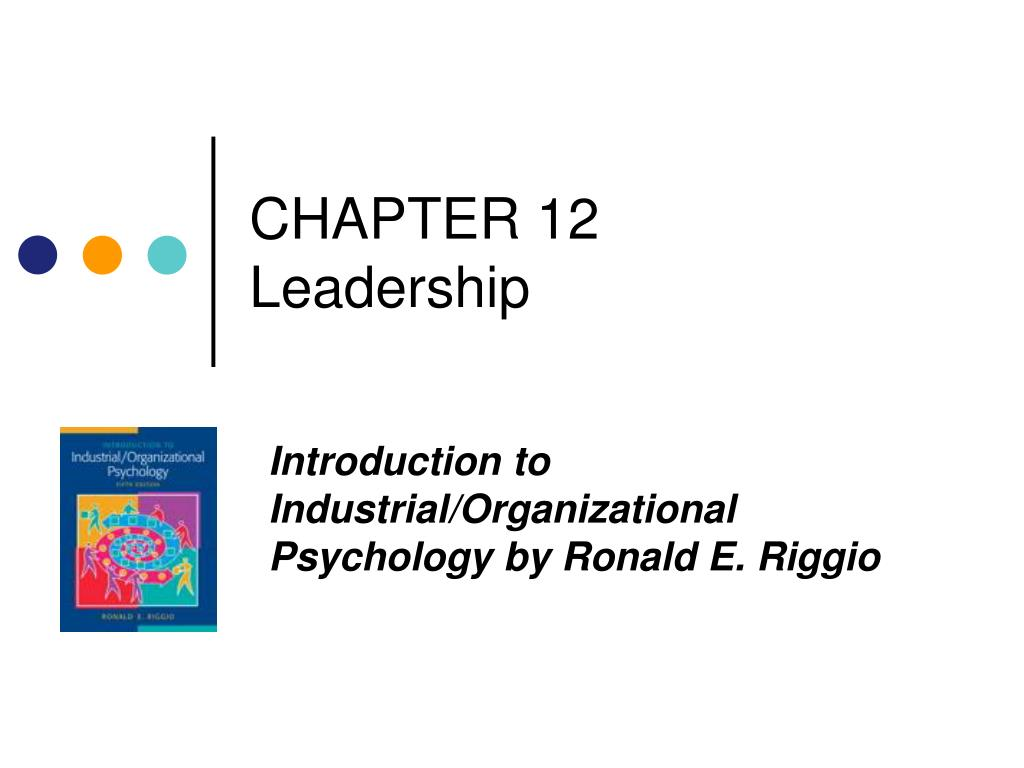 chapter 12 leadership l.