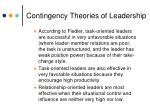 contingency theories of leadership11