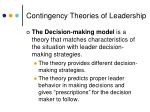 contingency theories of leadership14