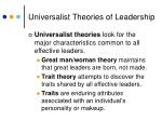 universalist theories of leadership