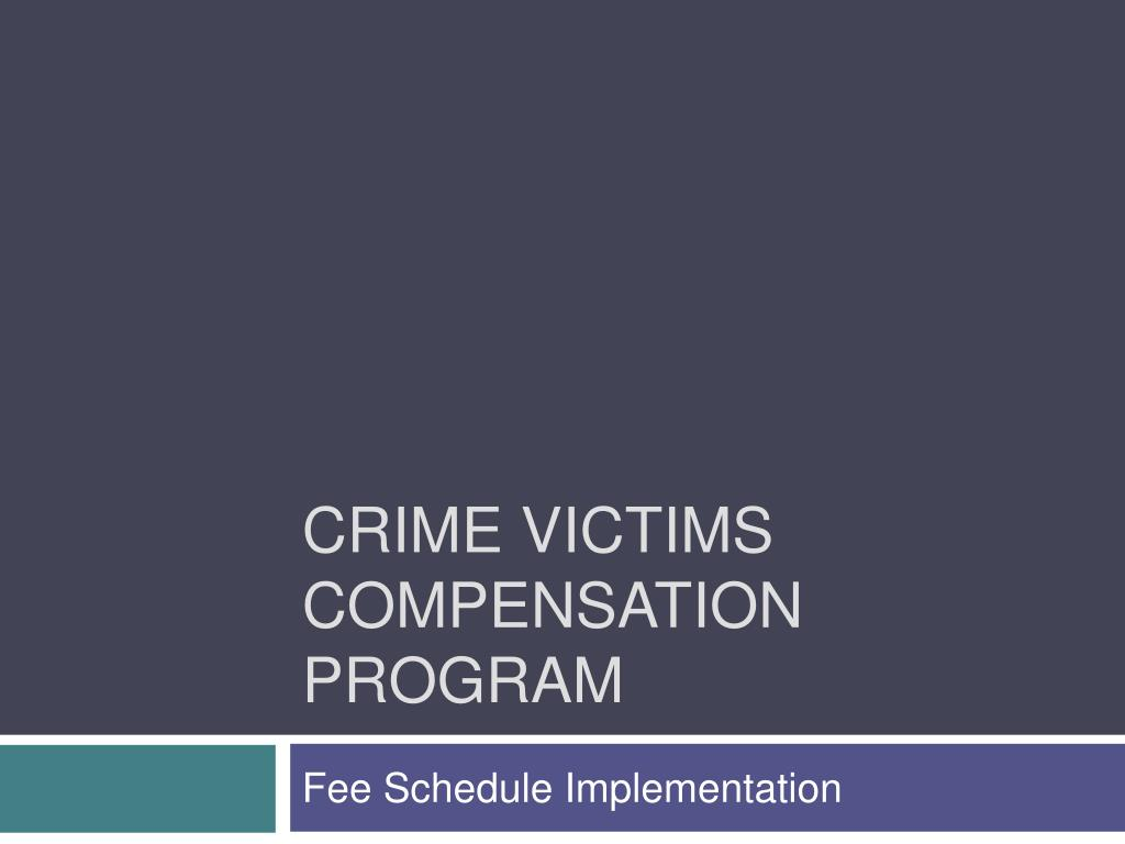 crime victims compensation program l.