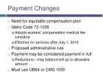 payment changes