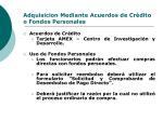 adquisicion mediante acuerdos de cr dito o fondos personales