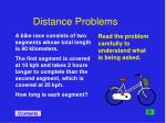 distance problems
