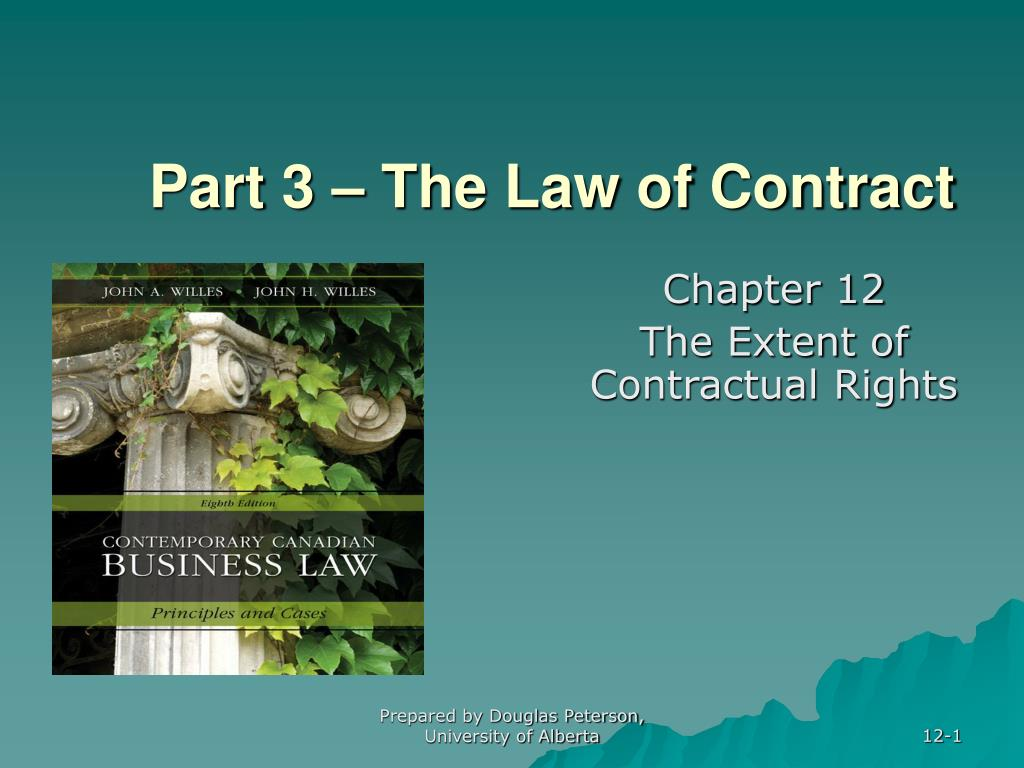 part 3 the law of contract l.