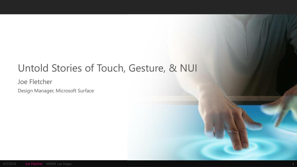 untold stories of touch gesture nui l.
