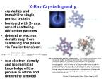x ray crystallography