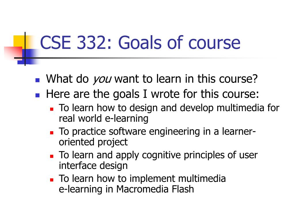 cse 332 goals of course l.