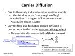 carrier diffusion