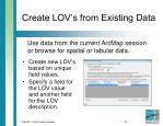 create lov s from existing data