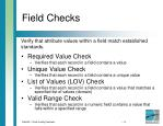 field checks