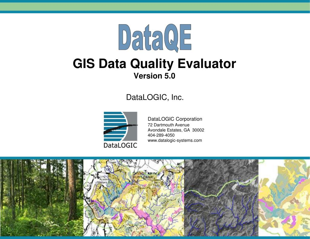 gis data quality evaluator version 5 0 l.