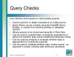 query checks