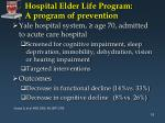hospital elder life program a program of prevention