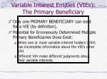 variable interest entities vies the primary beneficiary14