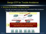 design stp for trouble avoidance3