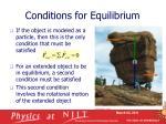 conditions for equilibrium5