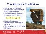conditions for equilibrium6