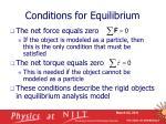 conditions for equilibrium7