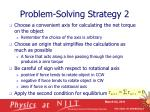 problem solving strategy 2