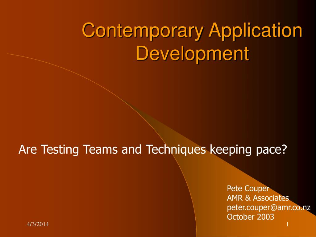 contemporary application development l.