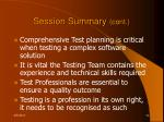 session summary cont