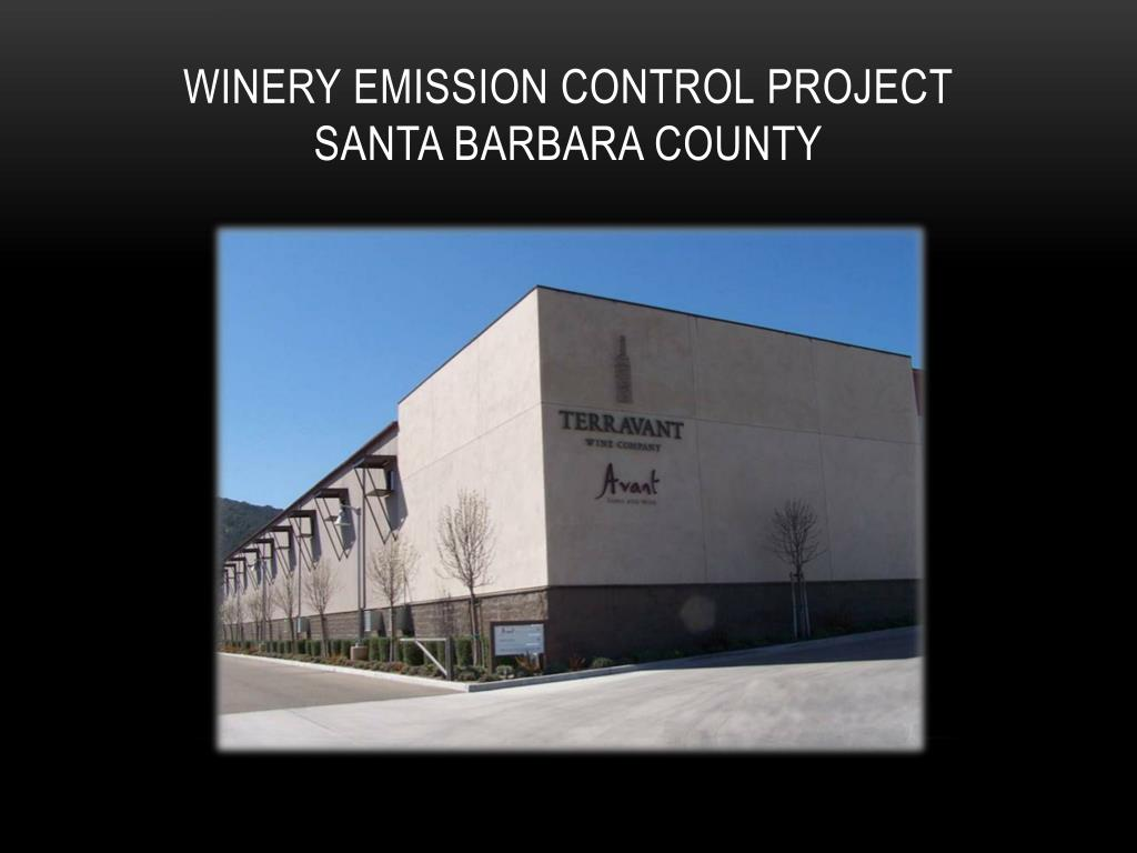 winery emission control project santa barbara county l.
