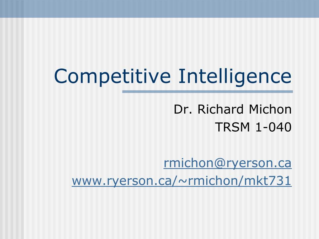 competitive intelligence l.