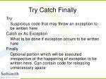 try catch finally