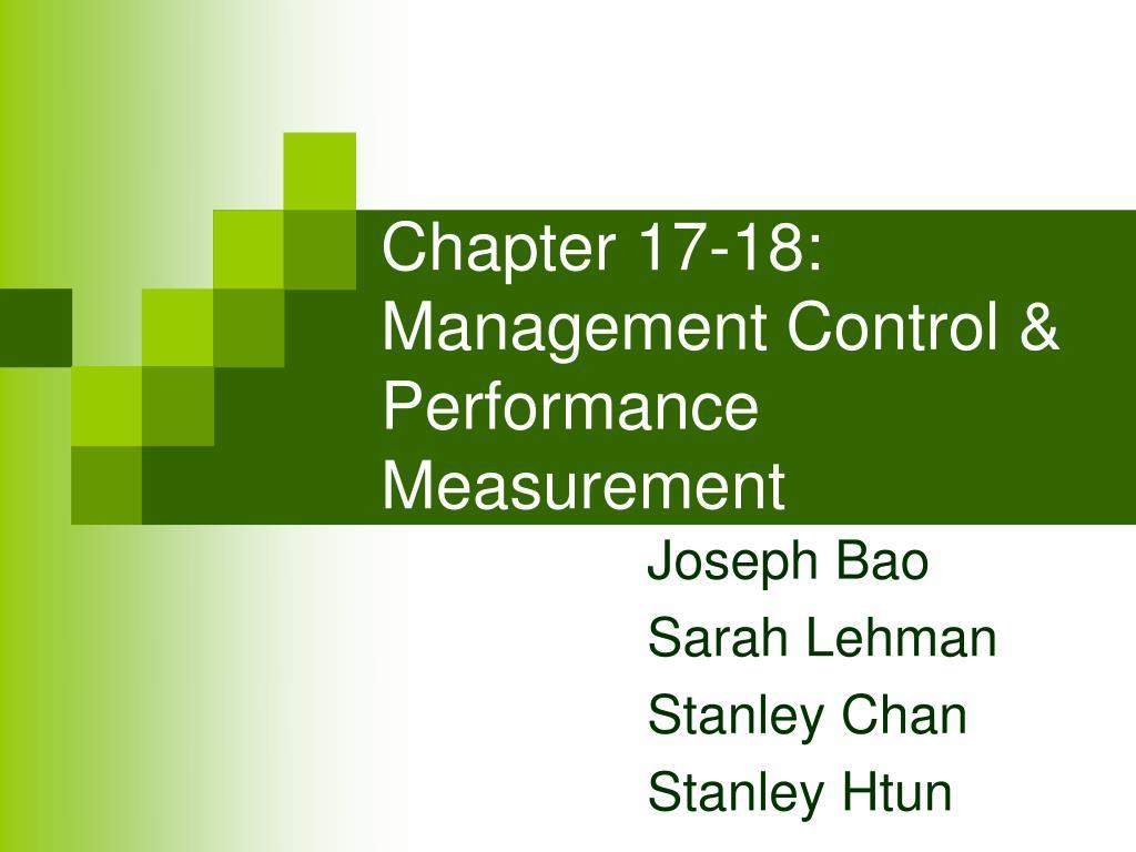 chapter 17 18 management control performance measurement l.