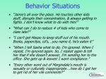 behavior situations