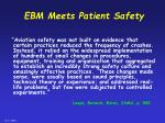 ebm meets patient safety