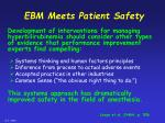ebm meets patient safety25