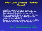 what does systems thinking teach
