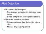 alert detection