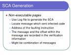 sca generation