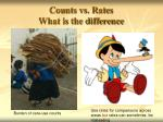counts vs rates what is the difference