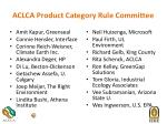 aclca product category rule committee