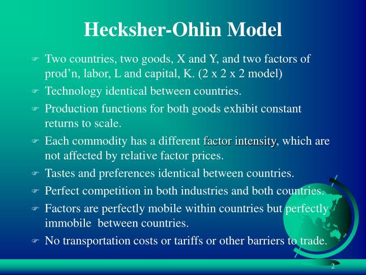 Hecksher ohlin model