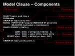 model clause components
