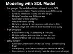 modeling with sql model