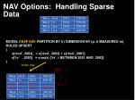 nav options handling sparse data