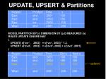 update upsert partitions30
