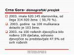 crna gora demografski presjek