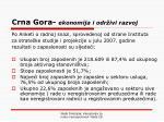 crna gora ekonomija i odr ivi razvoj
