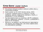 crna gora mediji i kultura