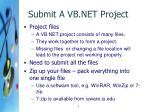 submit a vb net project