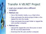 transfer a vb net project