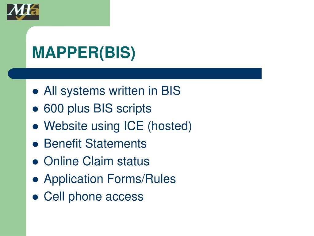 MAPPER(BIS)