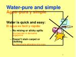 water pure and simple agua pura y simple